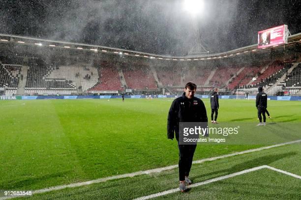 Joris van Overeem of AZ Alkmaar during the Dutch KNVB Beker match between AZ Alkmaar v PEC Zwolle at the AFAS Stadium on January 31 2018 in Alkmaar...