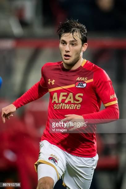 Joris van Overeem of AZ during the Dutch Eredivisie match between AZ Alkmaar and sc Heerenveen at AFAS stadium on December 23 2017 in Alkmaar The...