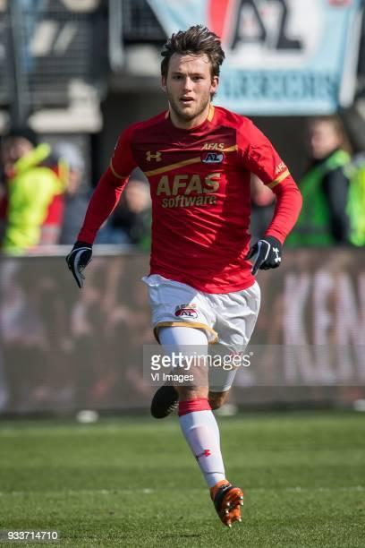 Joris van Overeem of AZ during the Dutch Eredivisie match between AZ Alkmaar and FC Groningen at AFAS stadium on March 18 2018 in Alkmaar The...
