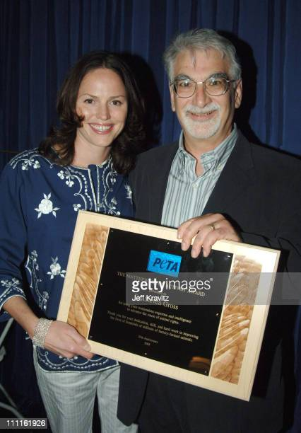 Jorja Fox and Dr Steven Gross during 25th Anniversary Gala for PETA and Humanitarian Awards Backstage and Audience at Paramount Studios in Hollywood...