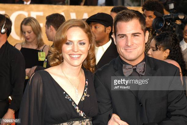 Jorja Fox and George Eads during The 29th Annual People's Choice Awards at Pasadena Civic Auditorium in Pasadena CA United States