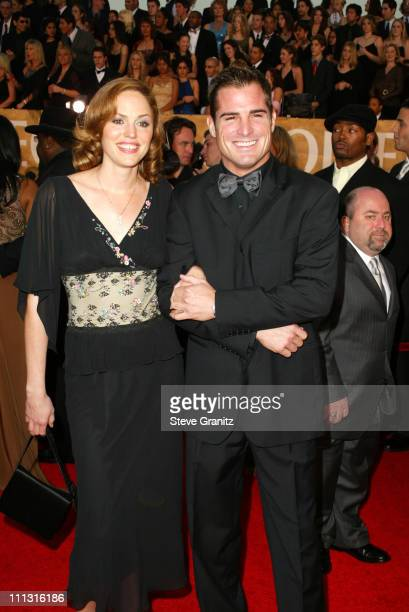 Jorja Fox and George Eads during The 29th Annual People's Choice Awards Arrivals at Pasadena Civic Auditorium in Pasadena California United States