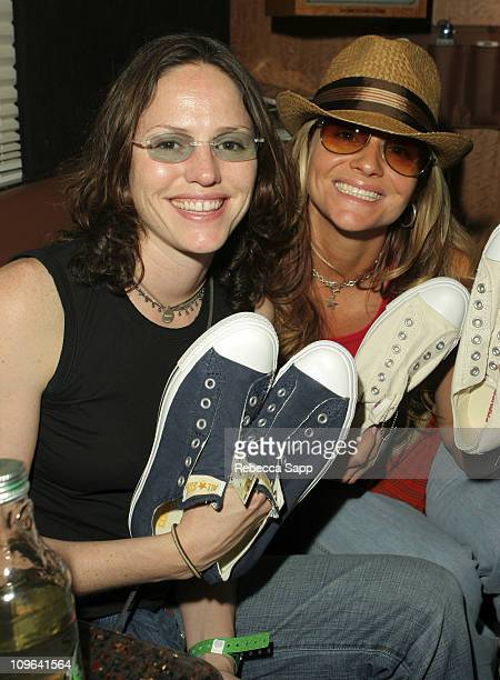 Jorja Fox and Sami Reed during Converse at Coachella Day 1 at Converse Bus in Palm Springs California United States