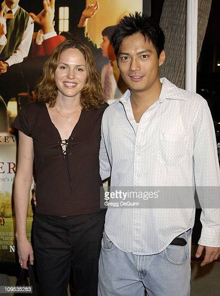 Jorja Fox Archie Kao during The Emperor's Club Premiere Los Angeles at Academy Theatre in Beverly Hills California United States