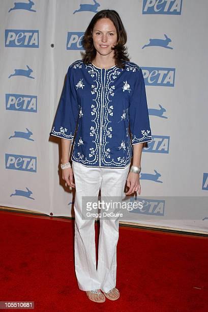 Jorja Fox during PETA's 25th Anniversary Gala and Humanitarian Awards Show Arrivals at Paramount Studios in Hollywood California United States