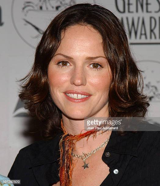 Jorja Fox during The 18th Annual Genesis Awards and 50th Anniversary of the Humane Society of the United States Pressroom at Beverly Hilton in...