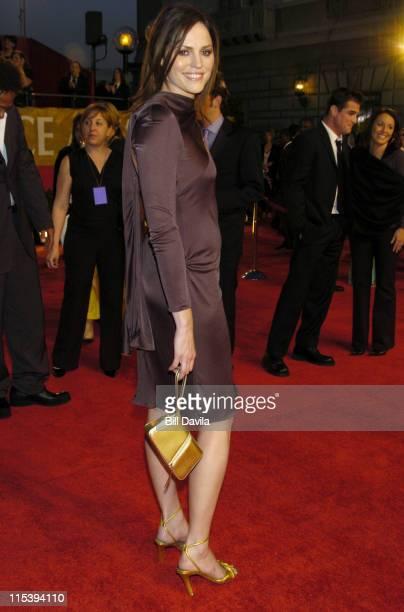 Jorja Fox during The 30th Annual People's Choice Awards Arrivals at Pasadena Civic Auditorium in Pasadena California United States