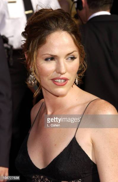 Jorja Fox during The 54th Annual Primetime Emmy Awards Arrivals at The Shrine Auditorium in Los Angeles California United States