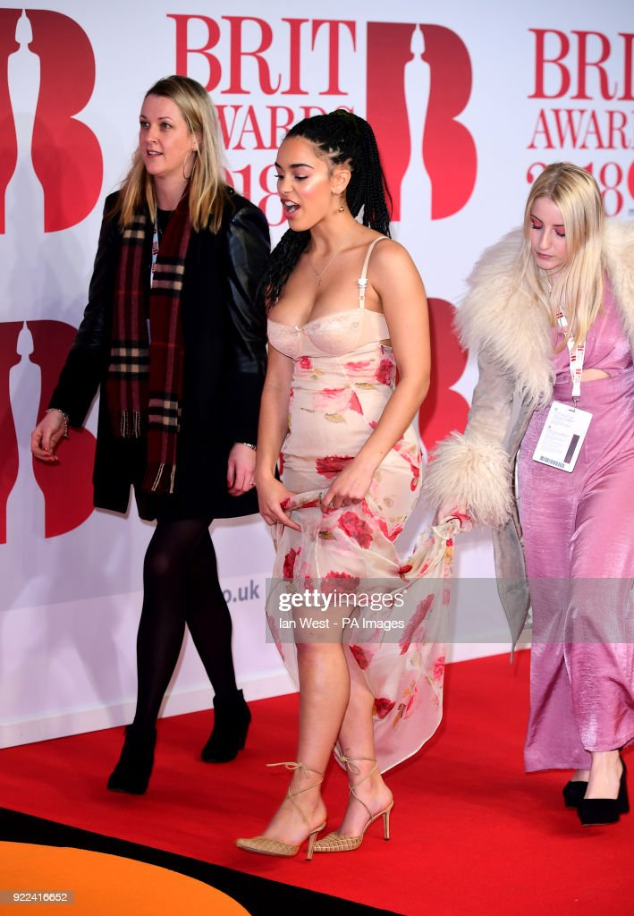 Jorja Smith attending the Brit Awards at the O2 Arena, London.