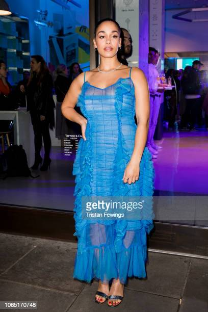 Jorja Smith attends a party at Tiffany Co Concept Store in Covent Garden to celebrate the start of the Holiday Season on November 08 2018 in London...