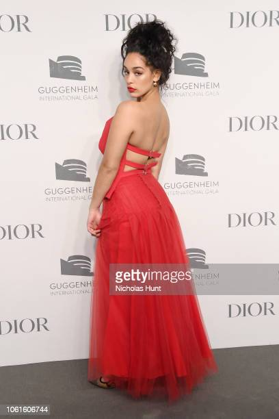 Jorja Smith attends during the 2018 Guggenheim International Gala PreParty made possible by Dior at Solomon R Guggenheim Museum on November 14 2018...