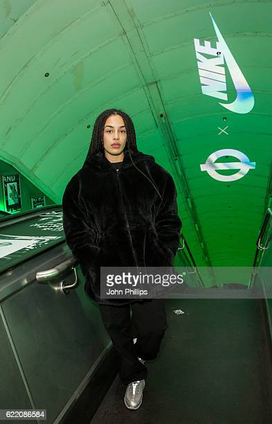 Jorja Smith attends NikeLab x Roundel launch at Charing Cross underground Station on November 9 2016 in London England