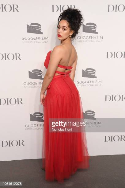 Jorja Smith attends the 2018 Guggenheim International Gala PreParty made possible by Dior at Solomon R Guggenheim Museum on November 14 2018 in New...