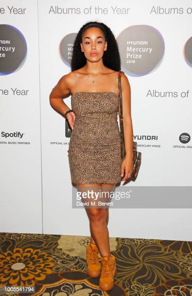 Jorja Smith attends the 2018 Hyundai Mercury Prize Albums Of The Year launch at The Langham Hotel on July 26, 2018 in London, England.