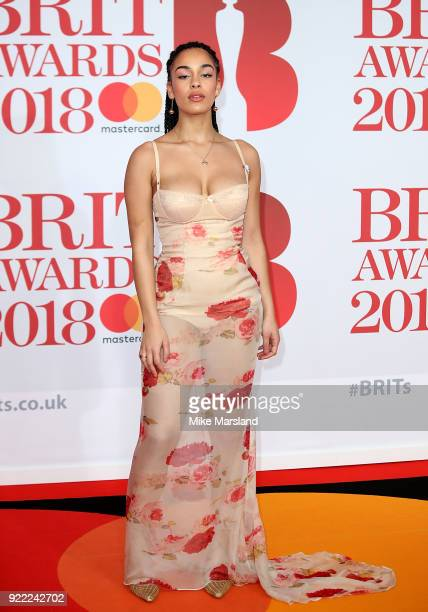 Jorja Smith attends The BRIT Awards 2018 held at The O2 Arena on February 21, 2018 in London, England.