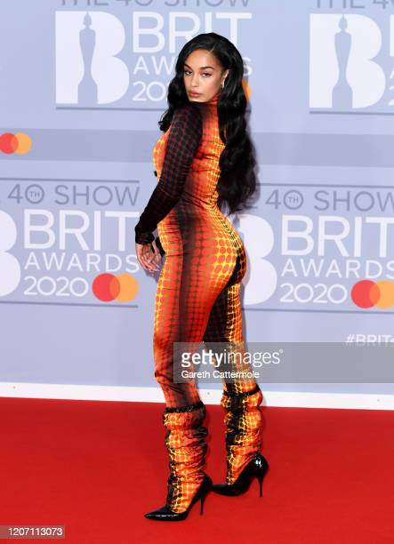 Jorja Smith attends The BRIT Awards 2020 at The O2 Arena on February 18 2020 in London England