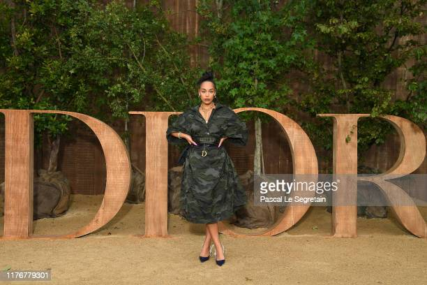 Jorja Smith attends the Christian Dior Womenswear Spring/Summer 2020 show as part of Paris Fashion Week on September 24 2019 in Paris France