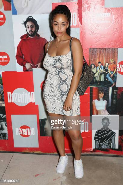 Jorja Smith attends the Dazed and YouTube Dazed100 celebration at St Giles House on June 26 2018 in London England