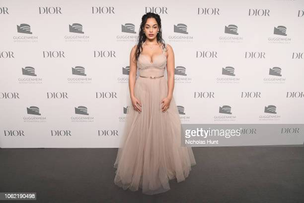 Jorja Smith attends the Guggenheim International Gala Dinner made possible by Dior at Solomon R Guggenheim Museum on November 15 2018 in New York City