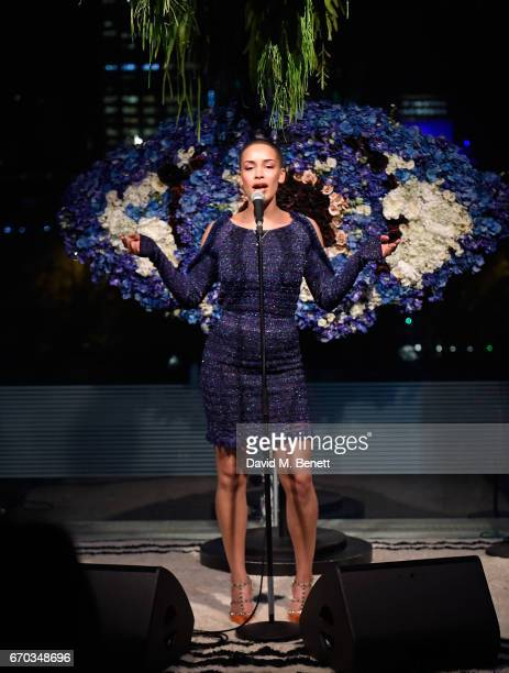 Jorja Smith attends the Kenzo World fragrance launch at The Store on April 19 2017 in London England