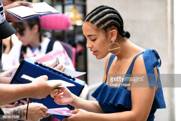 Jorja Smith attends the Nordoff Robbins' O2 Silver Clef Awards at Grosvenor House on July 6 2018 in London England