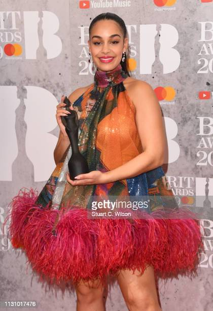 Jorja Smith in the winners room during The BRIT Awards 2019 held at The O2 Arena on February 20 2019 in London England