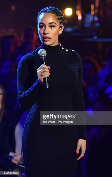 Jorja Smith performing at the Brit Awards 2018 Nominations event held at ITV Studios on Southbank London