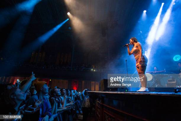 Jorja Smith performs at Albert Hall on October 10, 2018 in Manchester, England.