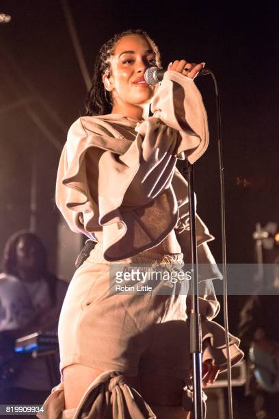 Jorja Smith performs at Electric Brixton on July 20 2017 in London England