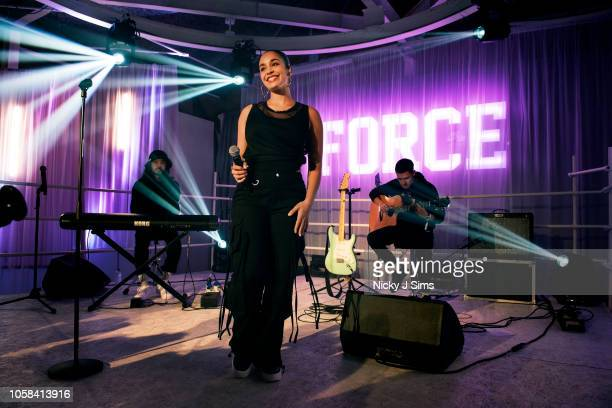 Jorja Smith performs at Nike event on November 6 2018 in London England