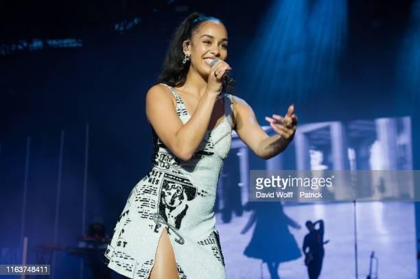 Jorja Smith performs at Rock en Seine on August 24, 2019 in Saint-Cloud, France.