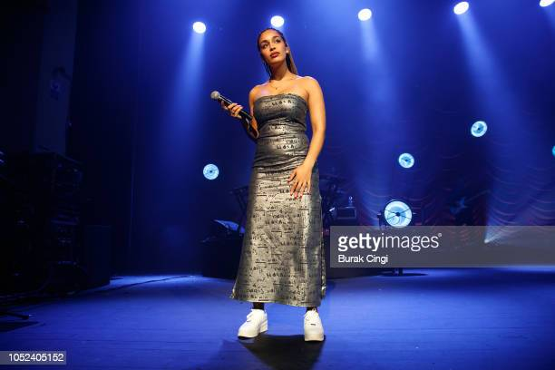 Jorja Smith performs live on stage at O2 Academy Brixton on October 17 2018 in London England