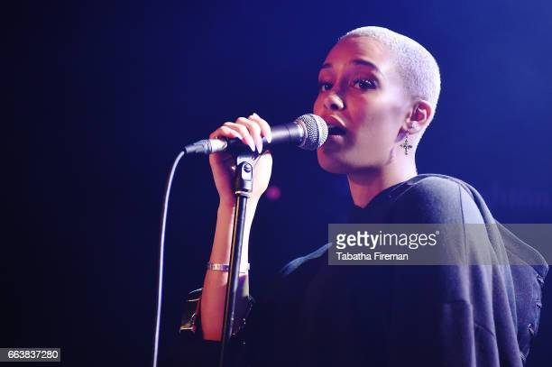 Jorja Smith performs live on stage at The Haunt on April 2 2017 in Brighton England