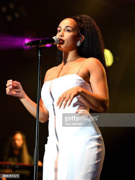 Stormzy joins Jorja Smith on stage at Somerset House Summer Series on July 13 2018 in London England
