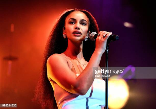 Jorja Smith performs on stage at Somerset House Summer Series on July 13 2018 in London England