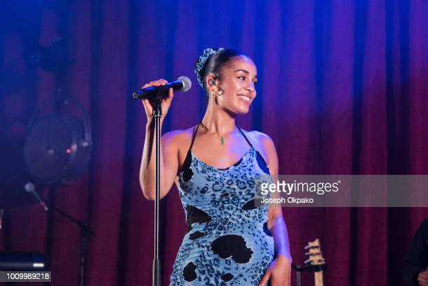 Jorja Smith performs on stage on day 1 of Bestival 2018 at Lulworth Estate on August 2 2018 in Lulworth Castle England