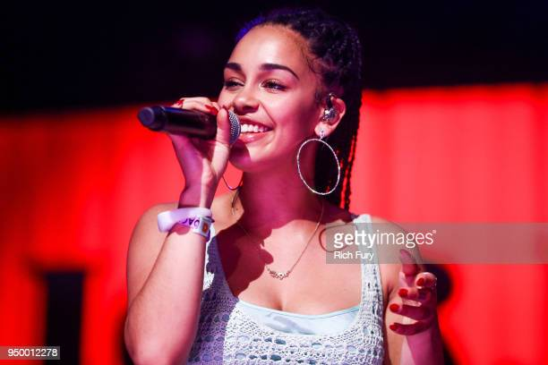 Jorja Smith performs onstage during the 2018 Coachella Valley Music And Arts Festival at the Empire Polo Field on April 21 2018 in Indio California