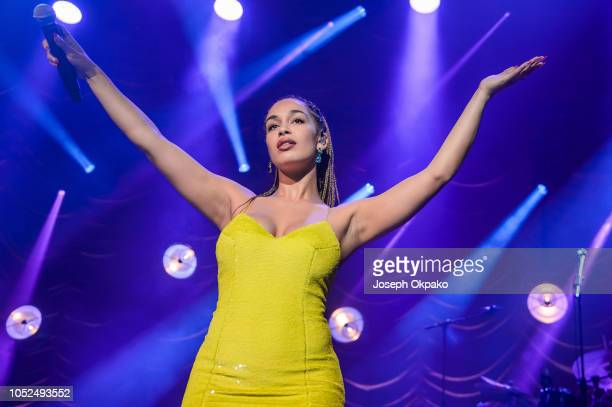 Jorja Smith performs onstage on Day 2 of her Lost Found Tour at O2 Academy Brixton on October 18 2018 in London England