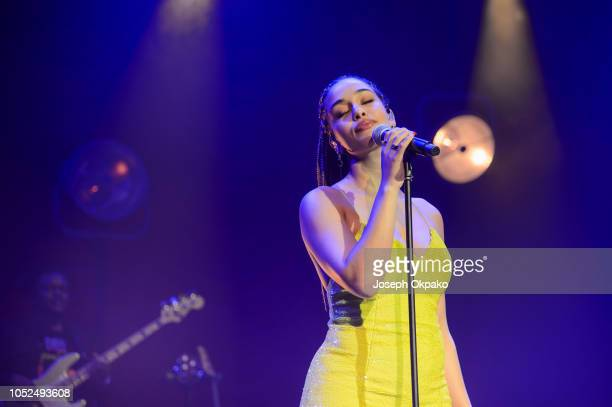 Jorja Smith performs onstage on Day 2 of her Lost & Found Tour at O2 Academy Brixton on October 18, 2018 in London, England.