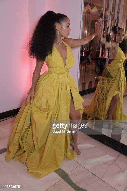 Jorja Smith, winner of the Musician Of The Year Award, attends the Harper's Bazaar Women of the Year Awards 2019, in partnership with Armani Beauty,...