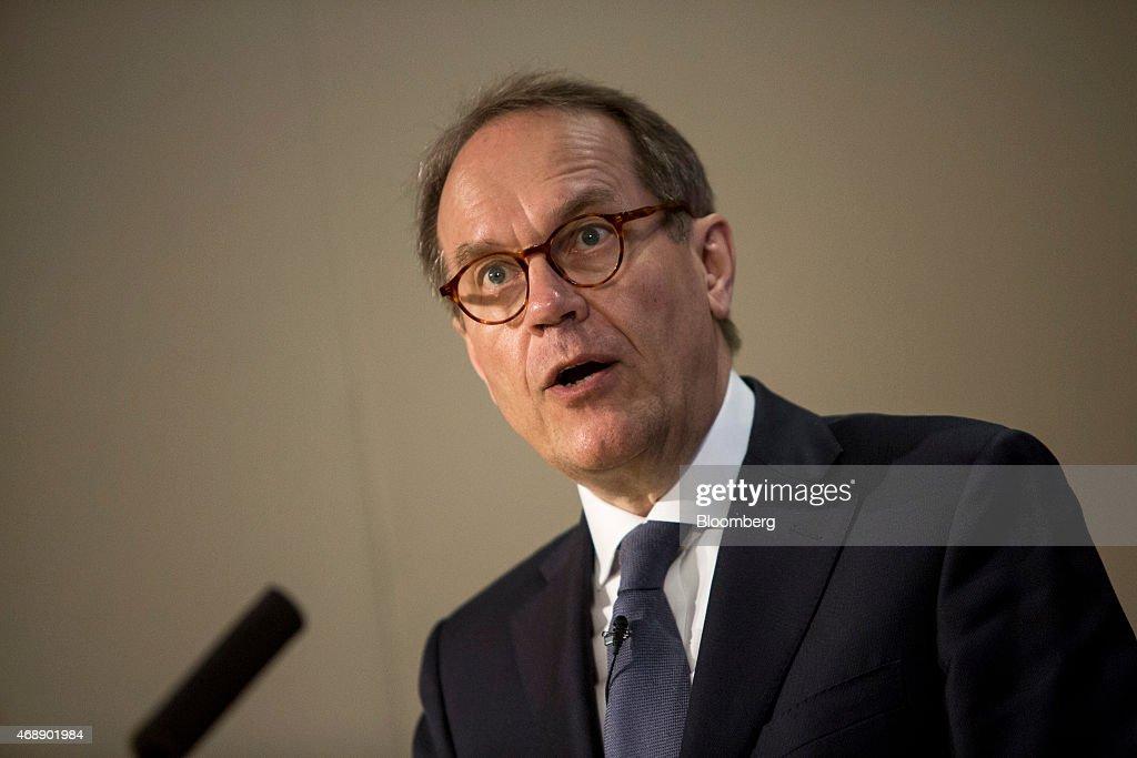 Royal Dutch Shell Plc Chief Executive Officer Ben Van Beurden News Conference Following $70 Billion BG Group Plc Purchase