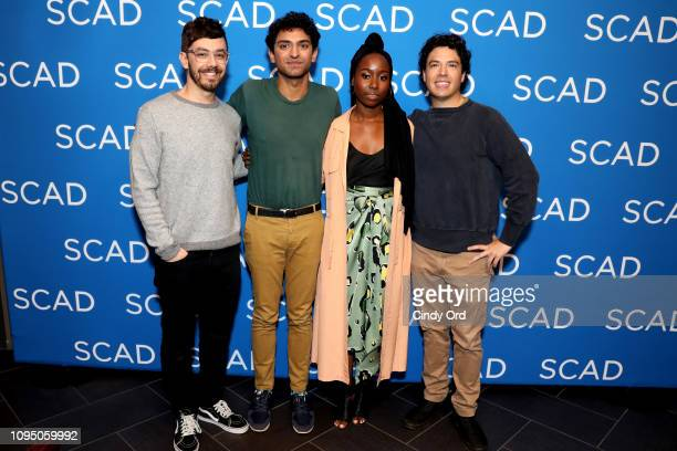 Jorma Taccone Karan Soni Sasha Compere and Jon Bass attend the Miracle Workers screening during SCAD aTVfest 2019 at SCADshow on February 7 2019 in...