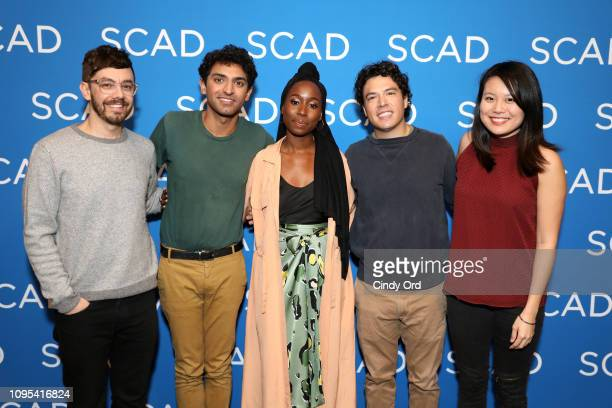 Jorma Taccone Karan Soni Sasha Compère Jon Bass and Shirley Li attend the Miracle Workers screening during SCAD aTVfest 2019 at SCADshow on February...