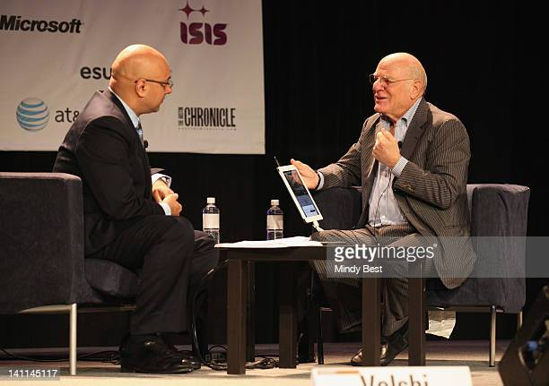 Jornalist Ali Velshi and Chairman and Senior Executive of IAC/InterActiveCorp Barry Diller speak onstage at the Barry Diller Interview State of the...