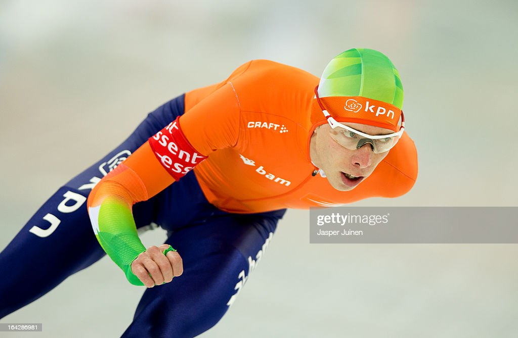 Jorrit Bergsma of the Netherlands competes on his way to silver during the 5000m race on day two of the Essent ISU World Single Distances Speed Skating Championships at the Adler Arena Skating Center on March 22, 2013 in Sochi, Russia.
