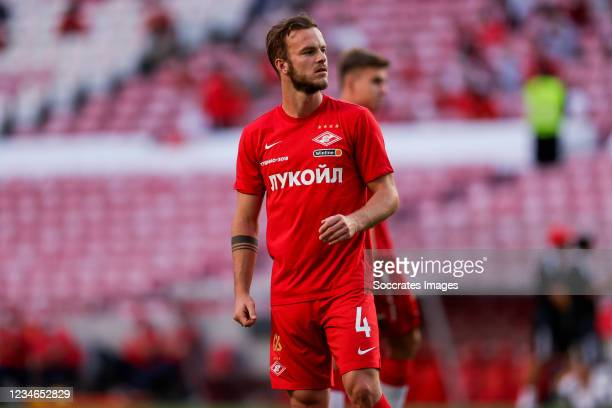 Jorrit Hendrix of FC Spartak Moskva during the UEFA Champions League match between Benfica v Spartak Moscow at the Estadio do SL Benfica on August...
