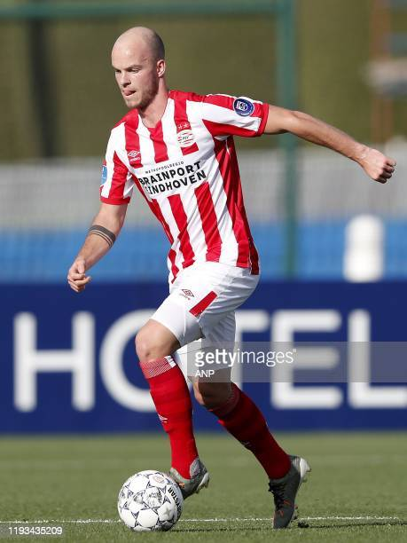 Jorrit Hendrix of PSV during a international friendly match between PSV Eindhoven and KAS Eupen at Aspire Academy on January 11, 2020 in Doha, Qatar