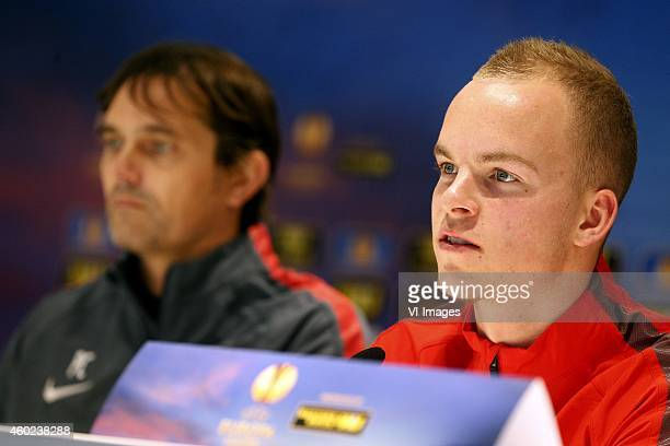 Jorrit Hendrix of PSV during the press conference of PSV prior to the UEFA Europa League match between PSV Eindhoven and Dynamo Moscow on December 10...