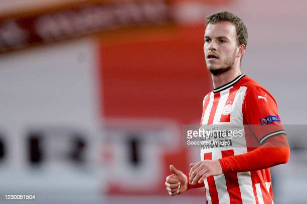 Jorrit Hendrix of PSV during the UEFA Europa League match between PSV v Omonia at the Philips Stadium on December 10, 2020 in Eindhoven Netherlands