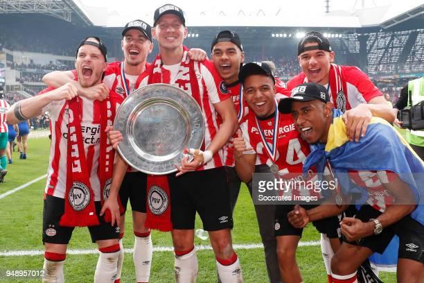 Jorrit Hendrix of PSV Marco van Ginkel of PSV Luuk de Jong of PSV Cody Gakpo of PSV Donyell Malen of PSV Armando Obispo of PSV Joshua Brenet of PSV...